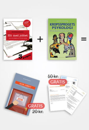 Spar 80 kr., når du køber Hit med jobbet, Kropsprogets Psykologi, 3 skabeloner og 2 e-bøger sammen
